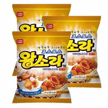 ROM AMERICA [ 3 Packs ] Korean Conch Trumpet Shell Shaped Snacks Crackers 62g 소라형 과자