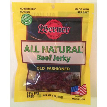 Werner Gourmer Meat Snacks Werner 3oz. All Natural Old Fashion Beef Jerky 4/6ct.