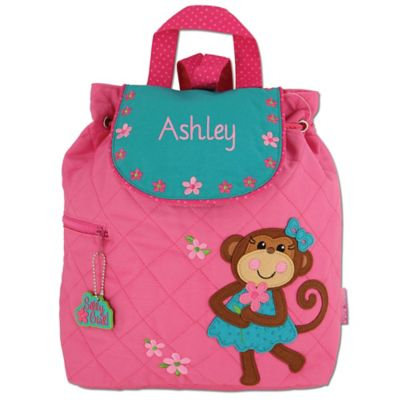 Stephen Joseph® Monkey Quilted Backpack in Pink