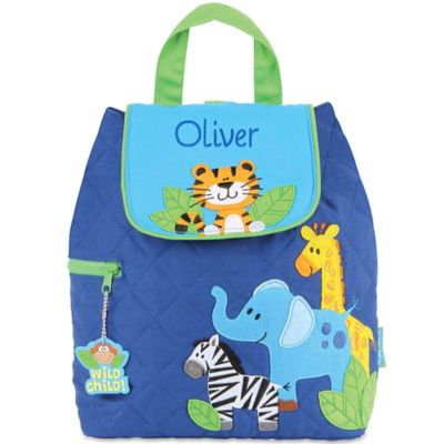 Stephen Joseph® Zoo Quilted Backpack in Blue
