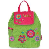 Stephen Joseph® Flower Garden Quilted Backpack in Green