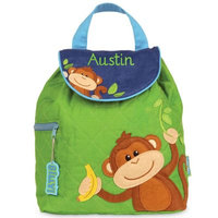Stephen Joseph® Monkey Quilted Backpack in Green