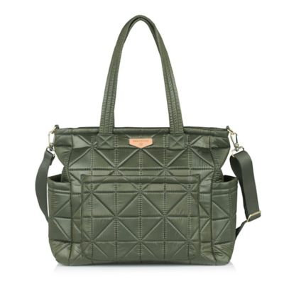 TWELVElittle Carry Love Tote Diaper Bag in Olive
