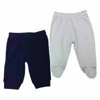 Sterling Baby Size 3M 2-Pack Open/Footed Pant in Blue