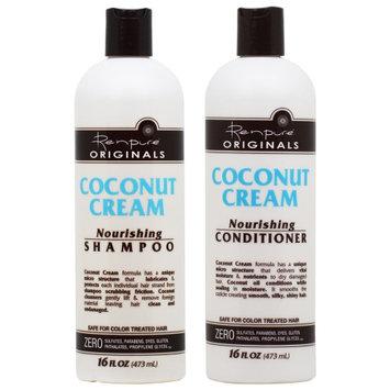 Renpure Originals Coconut Cream Nourishing Shampoo + Conditioner 16oz 'Duo' (Pack of 2)