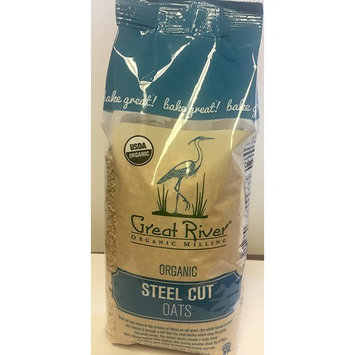 Great River Organic Milling Steel Cut Oats, 22 Ounces (Pack of 4)
