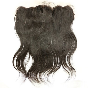 BLISSHAIR 13 4 inches Top Lace Frontal Brazilian Straight Smooth 100% Virgin Closure Natural Black Free Part 12