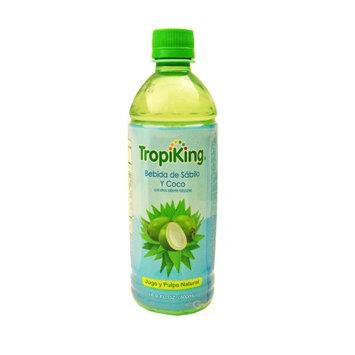 Tropiking Coconut-Aloe Drink 16.9 oz fl - Bebida Coco y Savila (Pack of 24)