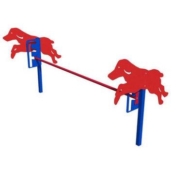 Ultra Play Blue and Red Dog Park Jump Gates PBARK-450P