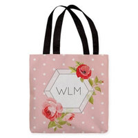 Polka Dot 18-Inch Tote Bag in Pink