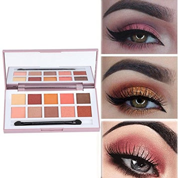 YOYORI Eyebrow, Waterproof and Long-Lasting 1 Box With 10 Color Geometric Eyeshadow Matte Pearlescent Nude Makeup Eyeshadow for Professional Makeup or Daily Use