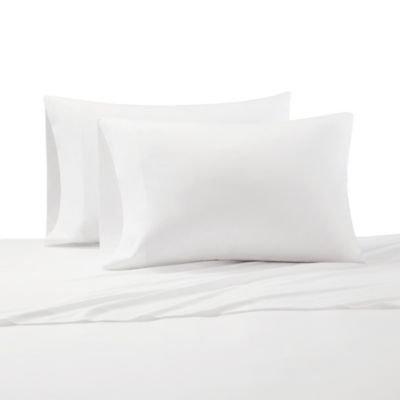 Cr me De La Cr me Milk 300-Thead-Count Cotton King Pillowcases in White