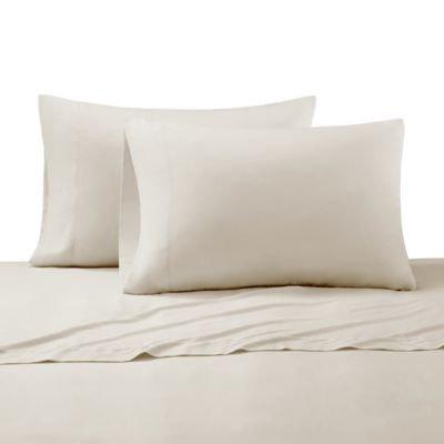 Cr me De La Cr me Milk 300-Thead-Count Cotton Standard Pillowcases in Canvas