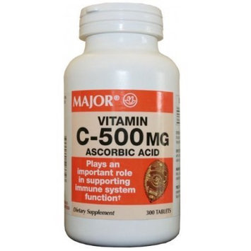 Vitamin C 500 mg, 300 Tablets by major