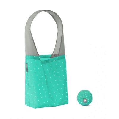 Flip & Tumble Flip Bag 24-7 V-Print Reusable Shopping Bag in Teal/White