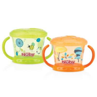 Baby Feeding - Nuby - 2pc Snack Keeper Green/Orange 92853