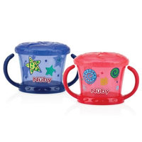 Baby Feeding - Nuby - 2pc Snack Keeper Blue /Red 92854