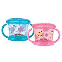 Baby Feeding - Nuby - 2pc Snack Keeper Pink/Aqua 92855
