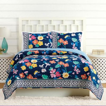 Vera Bradley Maybe Navy Quilt King in Santiago Floral