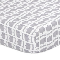 The Peanut Shell® Owl Fitted Crib Sheet in Grey