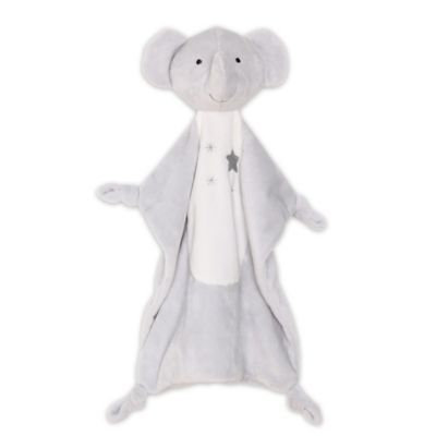 The Peanut Shell® Elephant Security Blanket in Grey