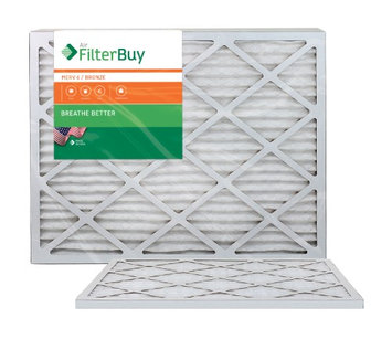 AFB Bronze MERV 6 25x29x1 Pleated AC Furnace Air Filter. Filters. 100% produced in the USA. (Pack of 2)