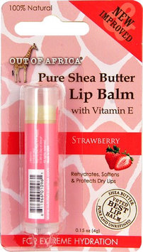 Out Of Africa Pure Shea Butter Lip Balm Strawberry - 0.15 oz (pack of 4)