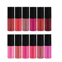 Dovewill 12 Colors Set Waterproof Long Lasting Matte Nude Lip Gloss Liquid Lipstick Beauty Makeup Non-sticky Cosmetics