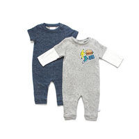 Rosie Pope Size 0-3M 2-Pack Confetti French Terry Romper