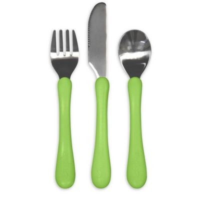green sprouts® Learning Cutlery Set in Green
