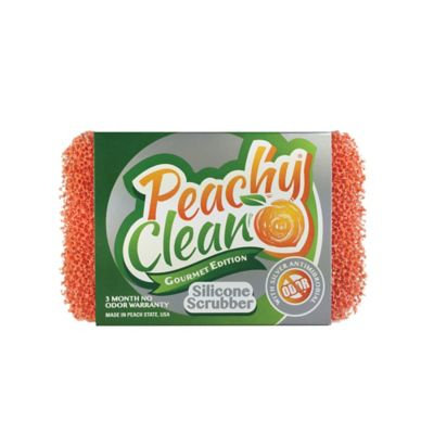 Peachy Clean Antimicrobial Silver Infused Silicone Dish Scrubber Sponge