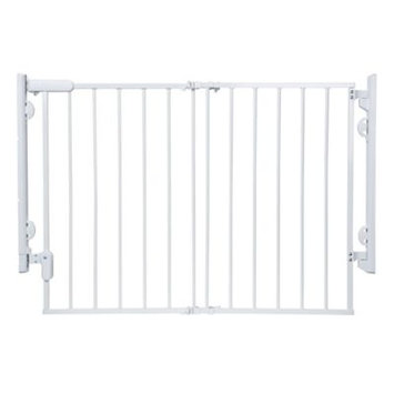 Dorel Juvenile Safety 1 Ready to Install Top of Stairs Safety Gate - White