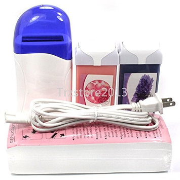 Baisidai Roll-On Depilatory Heater Rose & Lavender Wax Waxing Paper Hair Removal Tools set