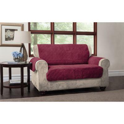 Puff Sofa Protector in Burgundy