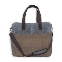 CB Station 16-Inch Waxed Canvas Multi-Pocket Travel Tote in Slate