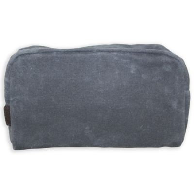 CB Station Waxed Canvas Plastic Lined Travel Kit in Slate