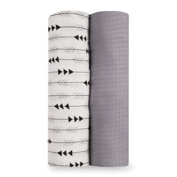 aden® by aden + anais® Flying Arrow 2-Pack Silky Soft Swaddles in Grey