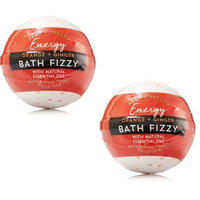 Bath and Body Works 2 Pack Aromatherapy Energy (Orange & Ginger) Bath Fizzy. 4.6 Oz