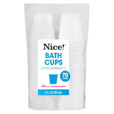 N'ice Nice! Bath Cups 3 oz White 70.0 ea (Pack of 12)