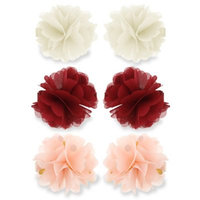 Capelli New York 6-Pack Infant Chiffon Flower Hair Clips