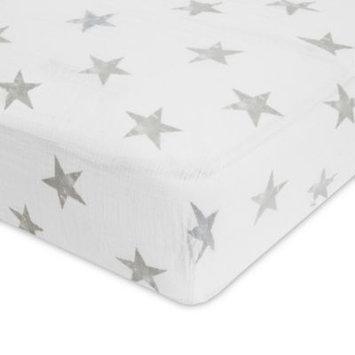 aden® by aden + anais® Dusty Cotton Muslin Crib Sheet in Grey