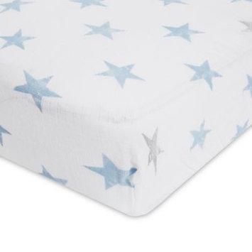 aden® by aden + anais® Dapper Cotton Muslin Crib Sheet in Blue