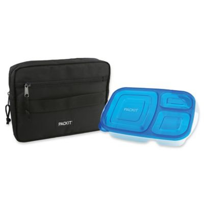 PACKiT® Freezable Bento Container & Bag Set in Black