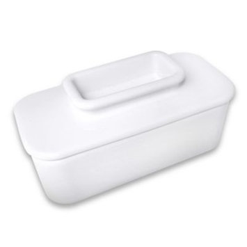 Talisman Designs Butter Keeper in White