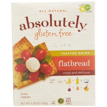 Absolutely Gluten Free Toasted Onion Flatbread, 5.29-Ounce (Pack of 3)