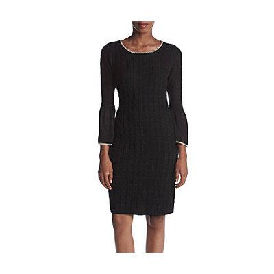 Calvin Klein Contrast Trim Sweater Dress