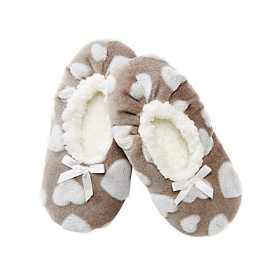 Fuzzy Babba® Heart Slipper Socks