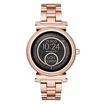 Sofie Pave Rose Gold-Tone Smartwatch