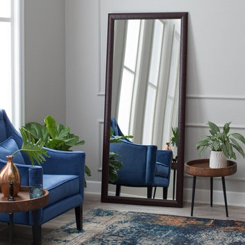 BrandtWorks American Accent Leaning Floor Mirror - Mahogany