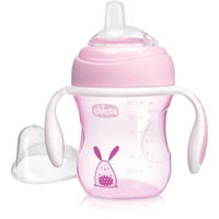 Chicco® NaturalFit® Soft Silicone Spout 7 oz. Transition Cup in Pink